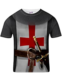 Bang Tidy Clothing St George's Day England T-Shirt for Men Knight Costume