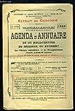 Agenda et Annuaire de la Magistrature, du Barreau, du Notariat des Officiers Ministériels et de l'Enregistrement. Extrait du catalogue, 67e année....