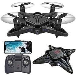 HAHA Drone, Mini Drone con Cámara HD, Quadcopter WiFi,Avión Radiocontrol con Follow Me, Gran Angular, Control Remoto, Altitude Hold, Modo Sin Cabeza