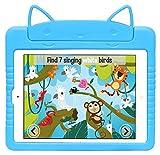 Navitech kinderfreundlich shocksicher Kitty / Katze Case Cover Schutz in Blau für das iPad Air 2 & 1st Gen iPad Air