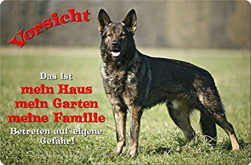 +++ Deutscher SCHÄFERHUND - Metall WARNSCHILD Schild Hundeschild Sign - DSH 03 T1