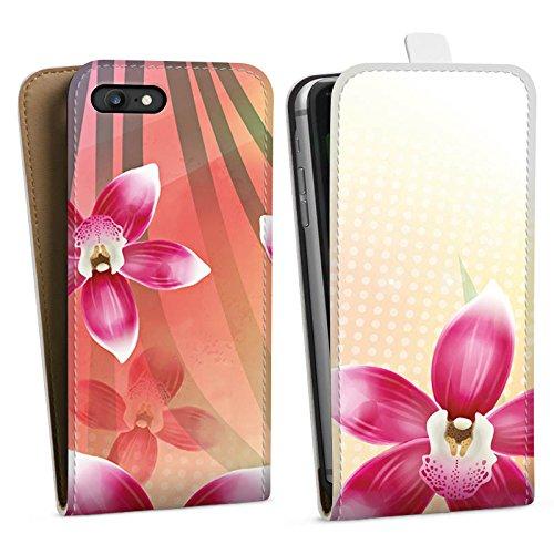 Apple iPhone X Silikon Hülle Case Schutzhülle Orchidee Schmetterling Blume Downflip Tasche weiß