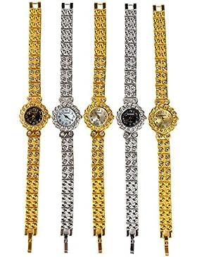 SSITG Damenuhr Silber Quarz Edelstahl Armbanduhr Strass Digital Uhr Geschenk Gift Watch