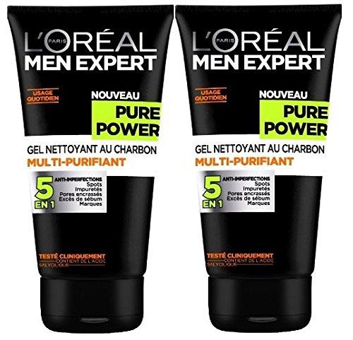 loreal-men-expert-pure-power-gel-nettoyant-homme-5-en-1-anti-imperfections-lot-de-2x-150ml