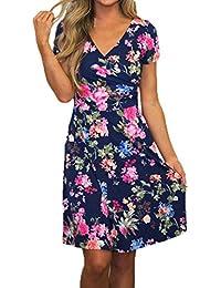 vestidos verano mujer baratos casual 2017 Switchali manga corta vestidos de fiesta para bodas cortos elegantes mujer mini el vestido de novia de las mujer floral atractivo Vestido mujer vestir