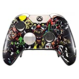 eXtremeRate Scare Party Front Housing Shell Case Faceplate Replacement Parts Rings for Xbox One Elite Controller
