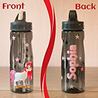 Unicorn - Personalised Water Bottle|tumbler|mason jar|flip straw|funny glass|drink glass|Sports Bottle|Lemon Juice|Kids|Friend|gift|birthday|name|present|girls|christmas|xmas|stars|girly