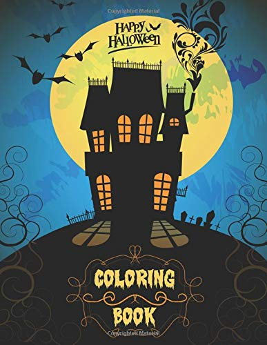 Happy Halloween Coloring Book for Kids and Adults - 40 illustrations