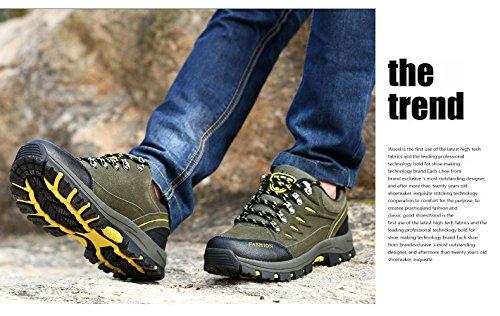SPEEDEVE Donna Uomo Scarpe da Escursionismo Impermeabile Scarpe da Trekking Sports all'aperto Verde