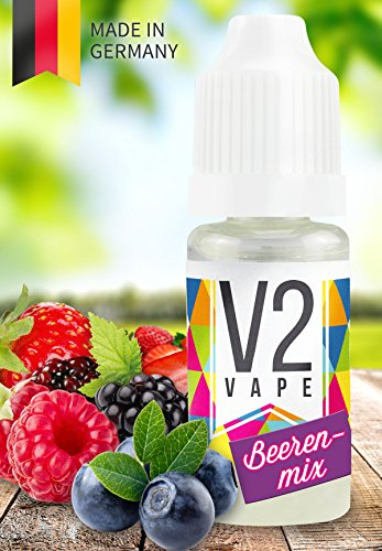 V2 Vape E-Liquid Beerenmix ohne Nikotin - Luxury Liquid für E-Zigarette und E-Shisha Made in Germany aus natürlichen Zutaten 100ml 0mg nikotinfrei