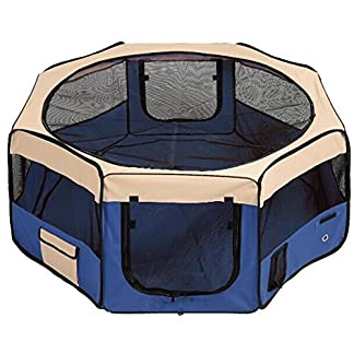 RayGar BLUE PET PLAY PEN SOFT FABRIC FOLDABLE PLAYPEN FOR DOG PUPPY RABBIT CAT 8 panels *BRAND NEW* RayGar BLUE PET PLAY PEN SOFT FABRIC FOLDABLE PLAYPEN FOR DOG PUPPY RABBIT CAT 8 panels *BRAND NEW* 51Pmfw5RMfL