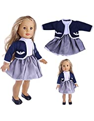 Fanxing Lovely Cute Pleated Dress With Jacket For 18 inch Our Generation American Girl Doll