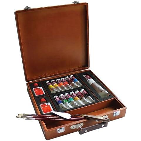 Lukas 1862Finest Olio Colori 150th anniversario 15scatola di legno Set varie misure