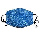 Mascarilla Antipolvo con Burbujas Azules, anticontaminación, Lavable, Reutilizable