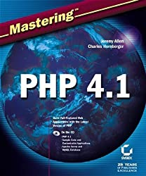 Mastering PHP 4.1 with CDROM by Jeremy Allen (2002-04-22)