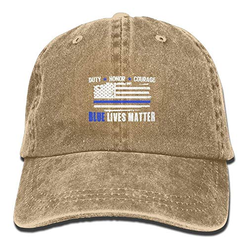 Zhgrong Caps Blue Lives Matter Sticker Vintage Washed Dyed Cotton Twill Low Profile Adjustable Baseball Cap Black Beach hat Black Brushed Twill Cap