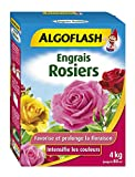 ALGOFLASH Engrais Rosiers, Jusqu'à 80 m², Dosette incluse, 4 kg, ROS4