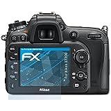 atFoliX Film Protection d'écran Nikon D7200 Protecteur d'écran - Set de 3 - FX-Clear ultra claire