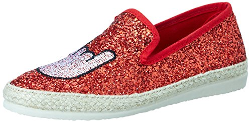 I love candies Damen Glitter Slipper Rot (Red)