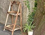 MMSYDT LYX® Blumen-Stand, wenig Blumen-Stand ländliche Leiter Balkon-mehrschichtiges Festes Holz-Wohnzimmer-Blumen-Reg