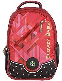 Good Feel Red Printing Backpack   Laptop Bag   College Bag   School Bag