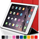 Forefront Cases Leather Case Cover/Stand with Magnetic Auto Sleep Wake Function for Apple iPad Mini - Red