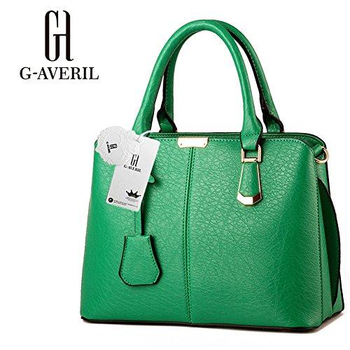 (G-AVERIL) Borsa A Tracolla Borse Donna Borsa Sacchetto In Pelle Cartella Sacchetti verde