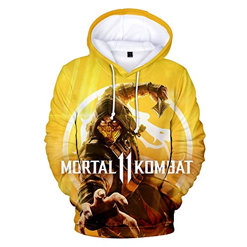 CPHGG 3D-Pullover Mortal Kombat 11 Kapuzenjacke einfach lässig Herren- und Damenmodelle 3D-Digitaldruck Freizeit Unisex