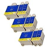 Ouguan® 9x (6 Noir + 3 Tri-colore) Kodak 10 10B 10C XL Cartouche d'encre Compatible pour Kodak ESP3 5 7 9 3250 5210 5250 7250 9250 Office 6150 EASYSHARE 5100 5300 5500 Hero 6.1 7.1 9.1
