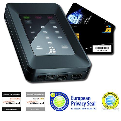 Aes-verschlüsselung-schlüssel (Digittrade HS256S 500GB SSD Externe Festplatte (6,35 cm (2,5 Zoll) USB 2.0) mit 256-Bit AES Hardware-Verschlüsselung, Smartcard und PIN schwarz)