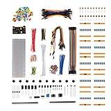 Kreema Starter Basic Learning Kit für Arduino Raspberry Pi Breadboard Kabel Widerstand Kondensator RGB LED Potentiometer Elektronische Fans Bundle
