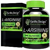 L-Arginina - Arginina 500mg - Preentrenamiento - Extrafuerte - Aminoácido L Arginina - 90 Cápsulas (Suministro Para 3 Meses) de Earths Design