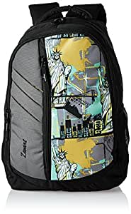 Zwart 25Ltrs Black Printed Backpack