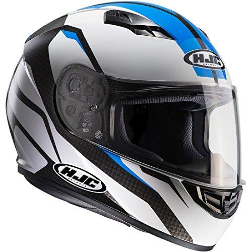 HJC 101402X XL Helm Motorrad, Weiß/Blau, XXL