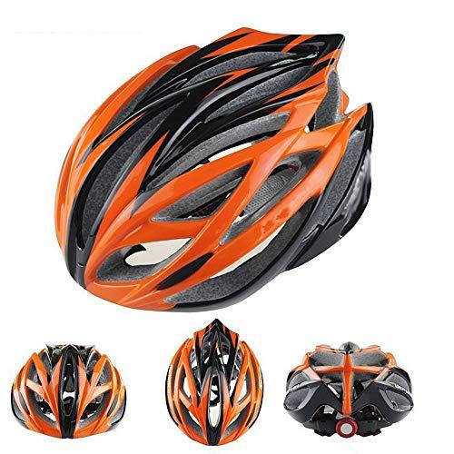 Mihaojianbing Hochwertiger EPS Fahrradhelm Reithelm Mountain Road Umfassender Schutzhelm Ultraleichte Sicherheit, Schlagfestigkeit Cool (Farbe : Orange) -