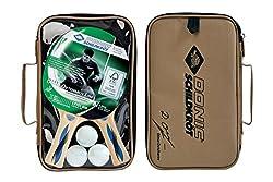 Donic-Schildkröt Tischtennis-Set Ovtcharov 400 AVS, 2 Schläger FSC Holz, 3 Bälle in guter 1* Qualität, in Tragetasche, 788491