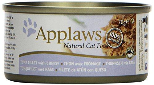 Applaws Katze Dose Thunfischfilets und Käse, 6er Pack (6 x 70 g)