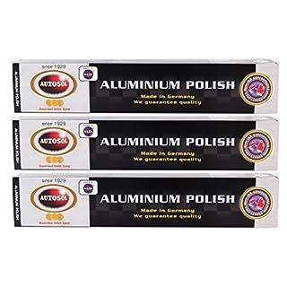 3x AUTOSOL Aluminium Polish Aluminiumpolitur Politur Alu Reiniger Paste 75 ml