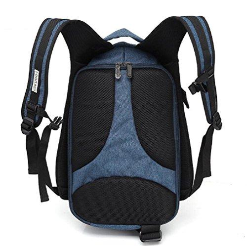LF&F Oxford Tuch kreativ lässig Rucksack wasserdichte Computer Rucksack Outdoor-Reise Fitness-Studio Tasche Campingausrüstung Männer und Frauen Blue