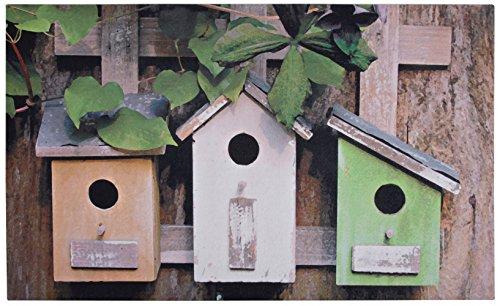 Esschert Design - Zerbino in gomma con casetta per gli uccelli