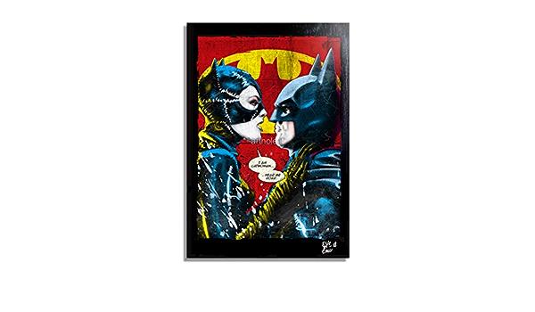 Batman Returns Inspired Fine Art Print Catwoman Michael Keaton Tim Burton