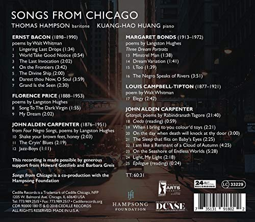 Songs from Chicago [Import allemand]