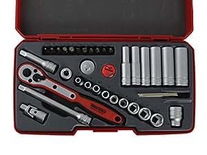 """Clarik Teng Tools Mr1436 1/4 """"de profondeur Puzzle jeu de douilles"""
