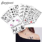 #5: glaryyears 2018 New 5 Sheet Heart Infinity Gift Tattoo Temporary Waterproof Body Henna Hand Neck Ear Art Tattoo Sticker for Women Men Party