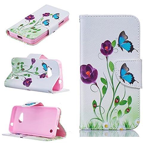 Nancen Nokia Microsoft Lumia 550 Coque, Premium PU Cuir Flip Téléphone Case, Motif Colorés Housse Étui Style de Livre Avec Stand Fonction Portefeuille et Carte Poches