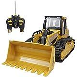 Hugine RC Bulldozer 5 canales de función completa de rastreo de control remoto excavadora buldozer de vehículos de construcción cargador de camiones volquete de juguete