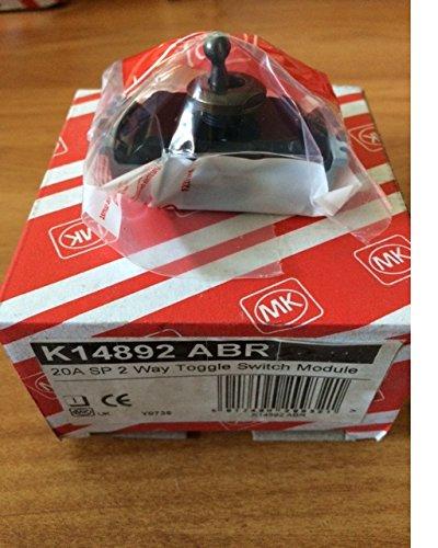 MK k14892ABR Edge 20A SP 2Way Toggle Interruttore), bronzo antico