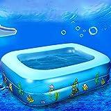 tlue tathtub Kid Niño de Cartoon El Mundo Acuatico de modelo impresas Aerato hinchable cuadrada del bebé piscina 88, come Mostra