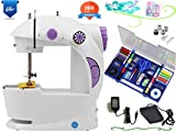 Vivir® 4 in 1 Multifunctional Mini Sewing Machine For Home With Fully Loaded Sewing Kit ( Adapter And Foot Pedal Included )
