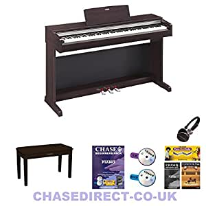 yamaha ydp 143 digital piano arius rosewood 88 fully weighted keys electric. Black Bedroom Furniture Sets. Home Design Ideas